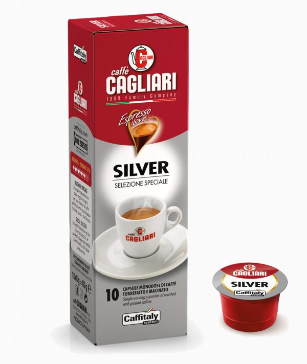 Caffitaly Cagliari silver capsule caffe